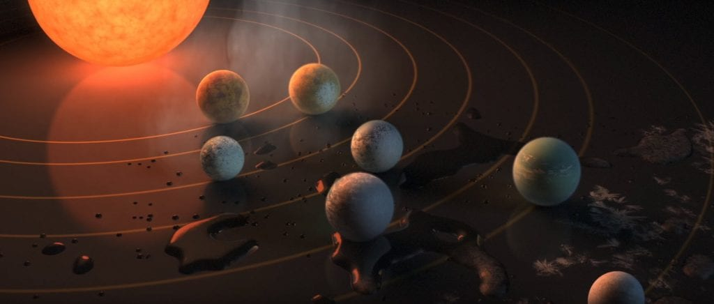 Scientists have found stars are the seven planets, three may be suitable for life